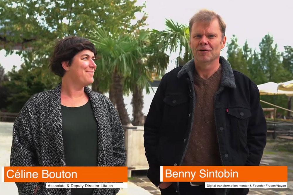 Céline Bouton and Benny Sintobin